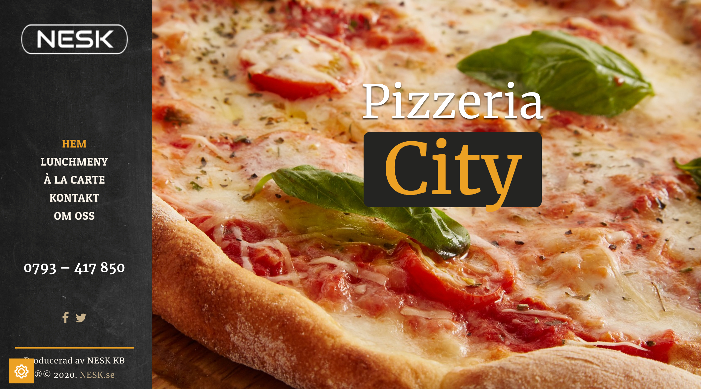 Bild på NESKs Pizzeria-site